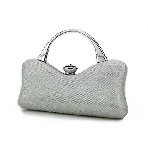 Women Handbag Evening Sardin Purse Silver Colorful Fenical Wallet Silver Party Party Clutch Wedding qU5Rwdv