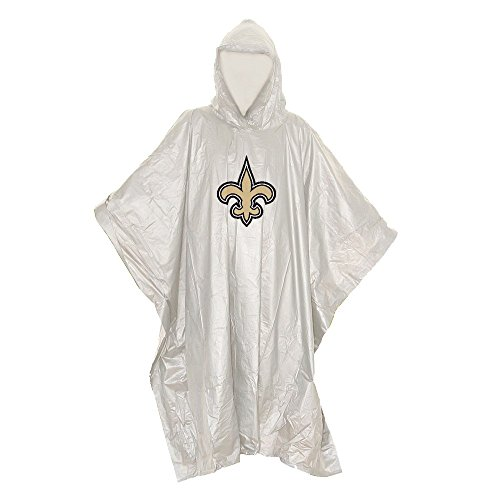 The Northwest Company Officially Licensed NFL New Orleans Saints Unisex Lightweight Clear Poncho, 44
