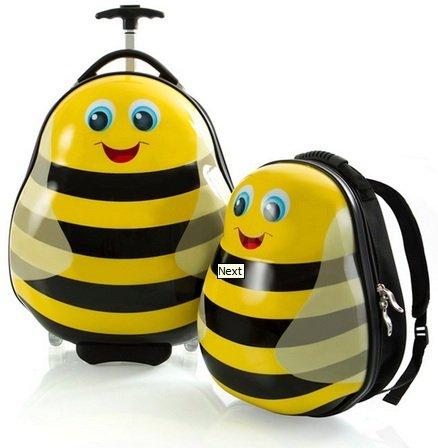 HEYS Kids 2Pc. Travel Tots (Bumble bee) Lightweight Luggage & Backpack - Lightweight Heys Luggage