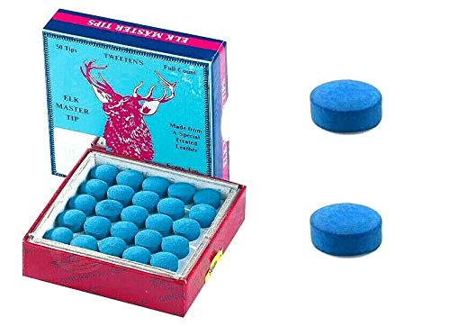 cueball16 2 x 9.5mm Genuine Elk Master Replacement Snooker or Pool Cue Tips By Tweetens
