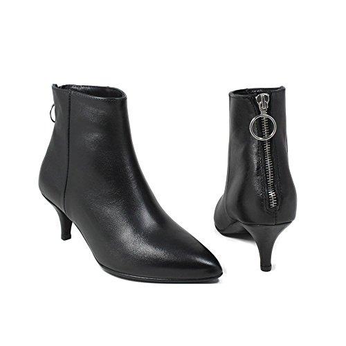 Con Boots Caviglia Tacchetto Stivaletti 0403 Punta Nero Alla Shoepper Ankle Personal E Fina qXwYtY