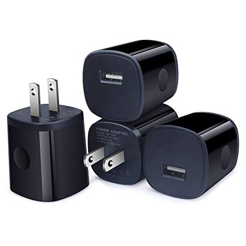 - USB Charger, Wall Charger Plug, AndHot 4Pack 1A/5V Home Travel Single Port USB Power Adapter Charging Block Cube Box Compatible for iPhone Xs Max/XR/8/7/6 Plus, iPad, Samsung, LG, Moto, Android Phone