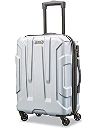 Centric Hardside Expandable Luggage with Spinner Wheels, Silver, Carry-On 20-Inch