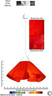 product image for Jezebel Radiance Lily Track Lighting Pendant Large. Hardware: White. Glass: Really Cherry Red
