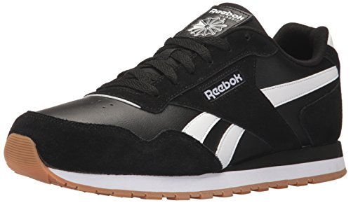 Gum White Black - Reebok Men's Classic Harman Run Sneaker, Black/White/Gum, 10 D(M) US