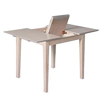 775ce43236dac TABLE DE CUISINE AVEC RALLONGE EN MASSIF VERNIS KLAN: Amazon.fr ...