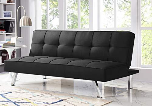 Serta RNE-3S-BK-SET Rane Collection Convertible Sofa, L66.1