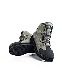 NEYGU Outdoor Fishing Wading Boots ,Fishing Shoes with Rubber Sole Used for Neoprene Stocking Foot Wader for Fishing,Hiking and Hunting