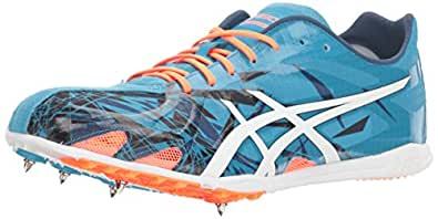ASICS Gunlap Track Shoe, Island Blue/White/Hot Orange, 12.5 M US