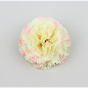 Artificial carnation flower head DIY home /Artificial Silk Flowers Heads/wedding decorative flower 15pcs/lot 8cm (cream) 1