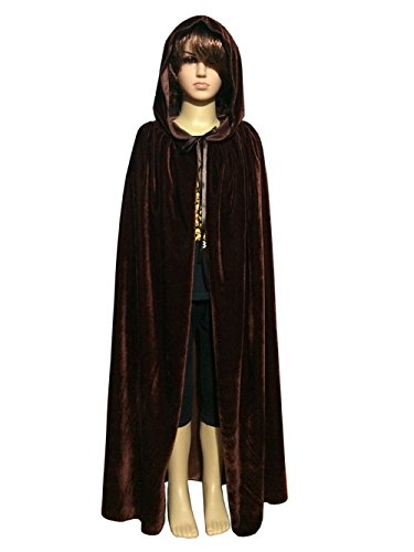 Brown Hood - Penta Angel Magic Halloween Christmas Party Vampire Hooded Cloak Cosplay Dress Costume Cape (37