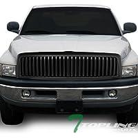 Topline Autopart Matte Black Vertical Front Hood Bumper...