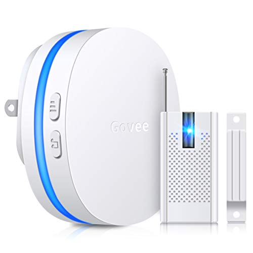 Wireless Door Open Chime, Govee Door Sensor Chime with LED Indicators(400FT Operating Range, 36 Chime Tunes, 5 Volume Levels), Home Security System Open Sensor Alarm for Door/Window/Drawer/Safe Box