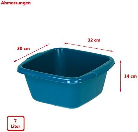 Curver plastica Ciotola 7L 32/x 30/x 14/cm Blu ciotola plastica waschschuessel guscio contenitore quadrato