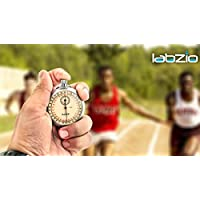 Labzio Racer Analogue Professional Stopwatch, Chrome Plated Steel Case, Accurate To 1/10th of A Second, with a Ring for Thread