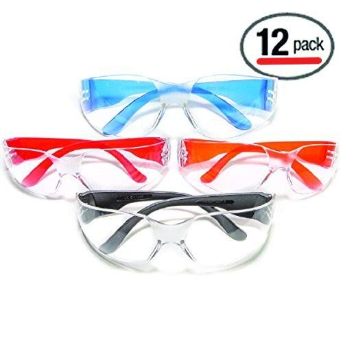 Ultimate UV Protection, Scratch Resistant Clear Lenses Safety Glasses, Pack of 12 from ULTIMATE SAFETY GLASSES