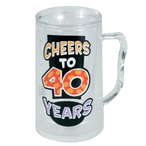 Laid Back C523V Cheers to 40 Years Acrylic Tankard, 14-Ounce (Cheers And Beers Costume)