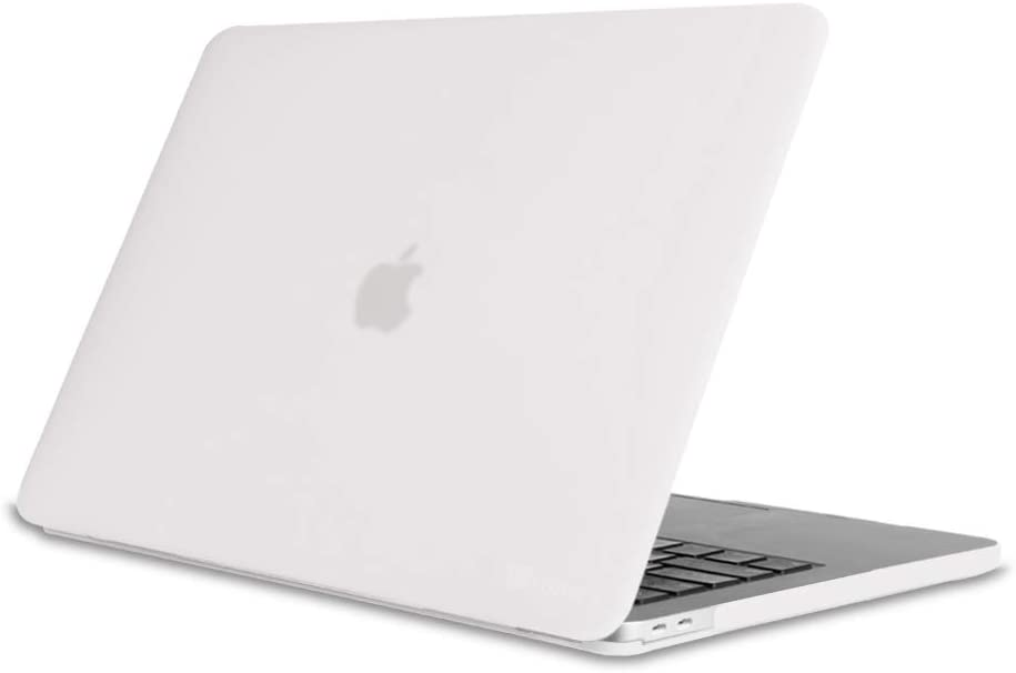 Fintie Case for MacBook Pro 13 (2019 2018 2017 2016 Release) - Protective Snap On Hard Shell Cover for MacBook Pro 13 Inch A2159 A1989 A1706 A1708 with/Without Touch Bar and Touch ID, Frost Clear