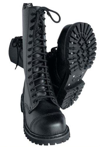 14-Loch 14-Loch 14-Loch Springerstiefel Ranger Stiefel schwarz mit Stahlkappe - Größe 40 0d9b9d