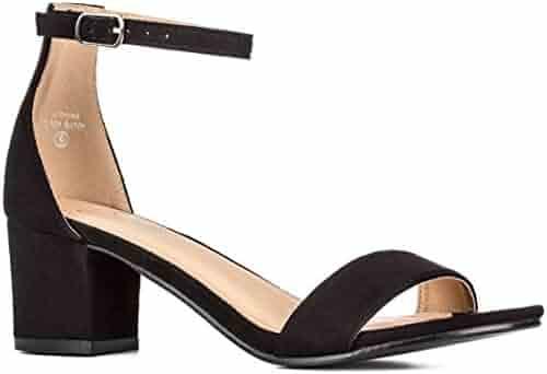 a15cee3311 Women's Fashion Ankle Strap Kitten Heel Sandals - Adorable Cute Low Block  Heel – Jasmine