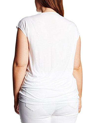 Triangle By S.Oliver Mit Kellerfalte, Camiseta sin Mangas para Mujer Blanco (white 0100)