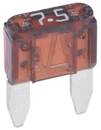 - 5 Qty. Divine Lighting ATM 7.5A Mini Blade Automotive Fuse 7.5 Amp