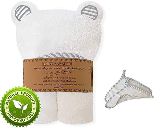 Organic Bamboo Hooded Baby Bath Towel (40