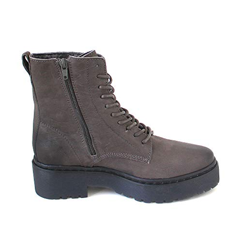 Zapatos Grey Tacón Mujer Eden Cuero Of dk De Apple Grau Aqv4w7xAC