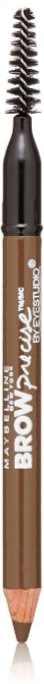 Maybelline New York Eyestudio Brow Precise Shaping Pencil, Soft Brown [252] 0.02 oz (Pack of 2)