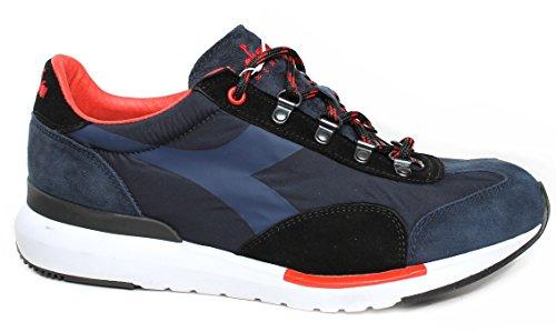 Uomo Equipe 17253460063 Art Sneakers Suede in Tomaia Heritage MOD e Mesh Evo Blu Diadora xqIACEw4A