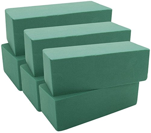 floral-foam-bricks-green-styrofoam-wet-foam-blocks-3-x-4-x-9-6-pkg-green
