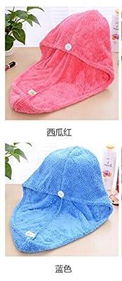 Uarter Dry Hair Cap Absorbent Shower Hat Head Turban Wrap Fiber Towel for Bath, Spa, Makeup