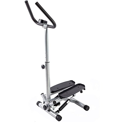 Portable Twist Stepper with Handle Bar Machine Sports Fitness Exercise Cardio Workout Training Home Gym Stepper Machine Aerobic Climber, Twist Action Tone Virtually All of Your Body, Work deep muscles