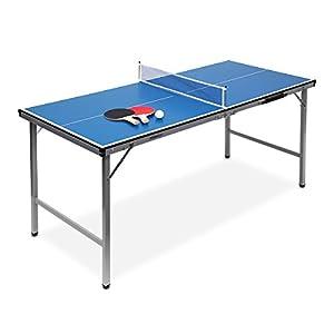Relaxdays Midi Tischtennistisch (150 x 67 x 71 cm) tragbar für Wohnzimmer &...