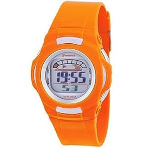 Montre Concept - Relojes digitales hombre Mingrui - Correa Plástico Naranja - Dial Redondo Fondo Naranja