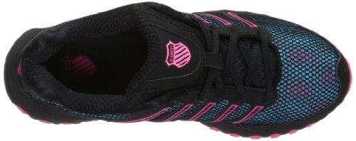 K-Swiss tubos 100Athletic zapatos de la mujer Black/Pink/Blue