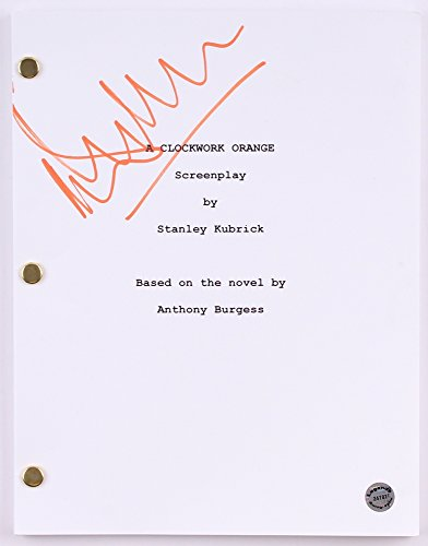 "MALCOLM MCDOWELL SIGNED ""A CLOCKWORK ORANGE"" SCRIPT STANLEY KUBRICK SCREENPLAY"