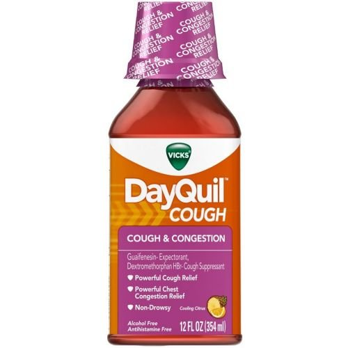 DayQuil Cough and Congestion Mucus Control, 12 Fluid Ounce -- 12 per case.