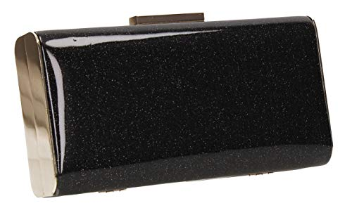 SWANKYSWANS Sparkle Prom Clutch Box Black Party Melissa Bag Womens arvqaR