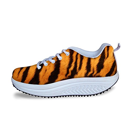 Strip IDEA Fashion Fitness Walking Womens Tiger HUGS Platform Shoes Sneakers zCxwRanpaq