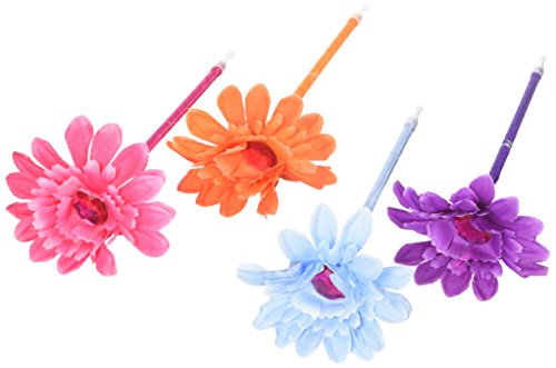 Rhode Island Novelty 097138803290 Lot of 12 Assorted Color Flower Daisy Pens - 7