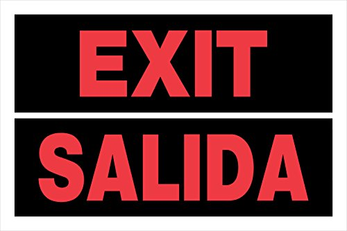 8x 12inches bilingüe signos, No Trespassing Prohibido Pasar