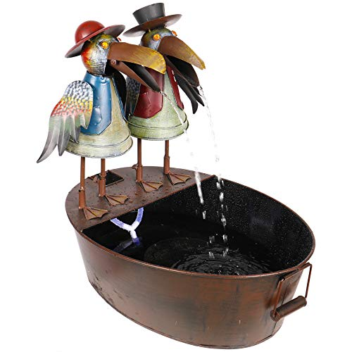 Alpine Corporation NCY298 Metal Crow Fountain ()