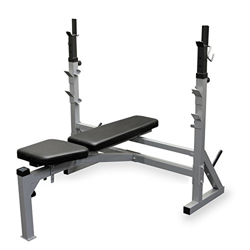 Valor Fitness BF-39 Adjustable FID Olympic Bench with J-Hooks and Bar Catches