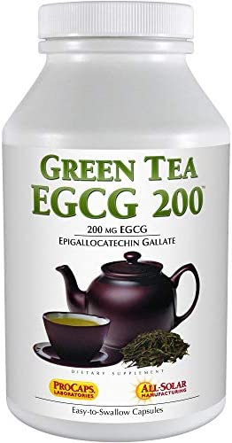 Andrew Lessman Green Tea EGCG 200-180 Capsules 200 mg EGCG, Powerful Anti-oxidant Support for Healthy Liver Function, Immune, Brain, Heart and Circulatory Systems. No Additives