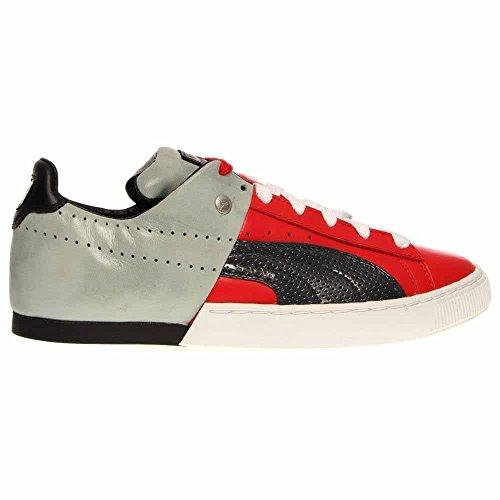Puma 50/50 PP Hombre Rojo Piel Deportivas Zapatos Talla Nuevo EU 42,5