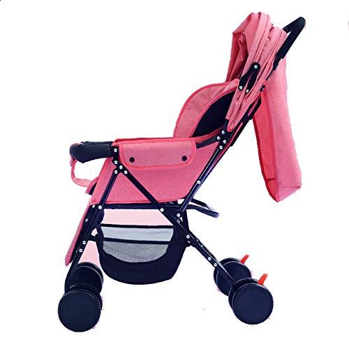 LITIAN Lightweight Stroller Can Sit Reclining Folding Stroller Space Large Size Small Stroller Four-Wheel Folding Bike