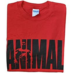 "Universal Nutrition Red ""Animal"" Iconic T-Shirt M"