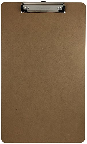 Trade Quest Legal Size Clipboard Low Profile Clip Hardboard Single (Pack of (Legal Clipboard)