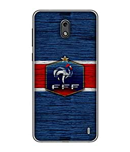 ColorKing Football France 16 Blue shell case cover for Nokia 2